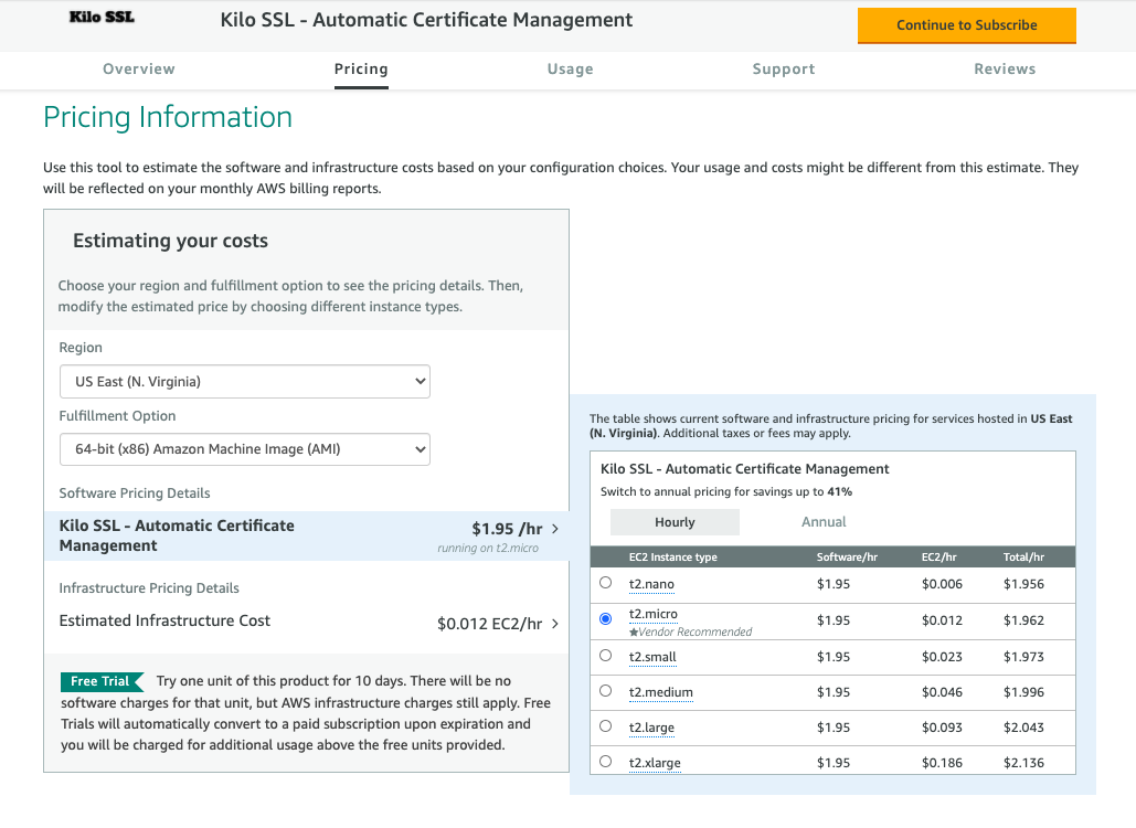 Kilo SSL AWS Marketplace