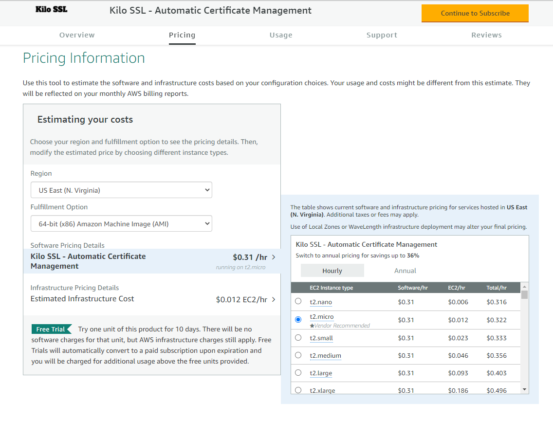 Kilo SSL AWS Marketplace